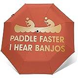 Paddel schneller Ich höre Banjos Travel Mini Umbrella Winddichter UV-Taschenschirm mit 8 Rippen
