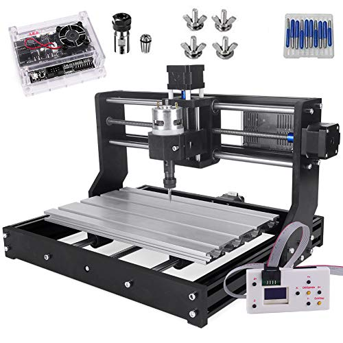 CNC 3018 Pro Engraver Fräsmaschine, Yofuly Upgrade-Version GRBL-Steuerungs-DIY-Mini-CNC-Maschine, 3-Achsen-Leiterplattenfräsmaschine mit Offline-Controller, mit ER11 und 5mm Verlängerungsstange
