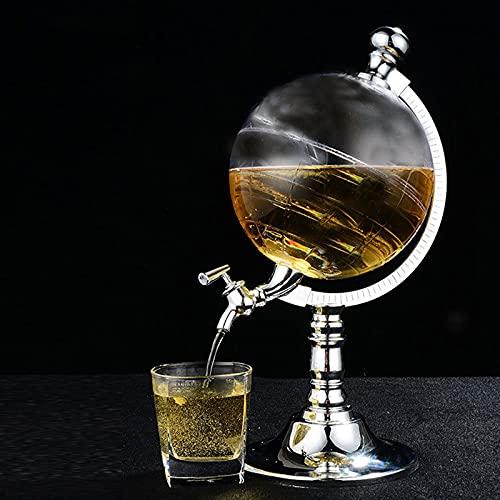 lefeindgdi Dispensador de vino con grifo, transparente para whisky, jarra de cerveza, dispensador de vino de licor antiguo para restaurante, bar, fiesta, soporta hasta 1500 ml