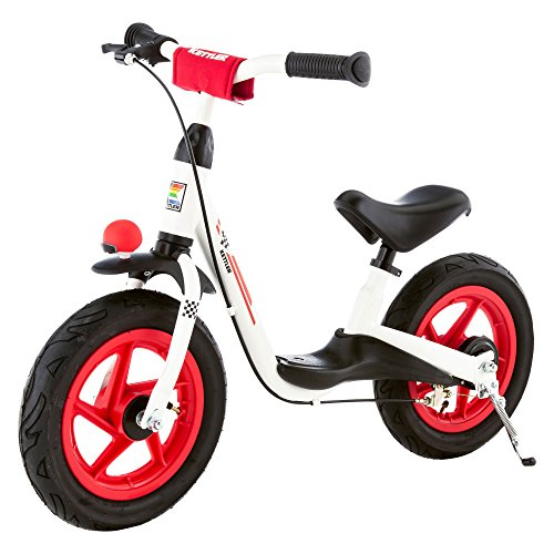 """Kettler Laufrad """"Spirit Air Racing"""" – Farbe: schwarz, rot und weiß – Reifengröße: 12,5 Zoll, ab 3 Jahren geeignet – Lauflernrad für Jungs und Mädchen – verstellbare Höhe – mit Luftbereifung"""