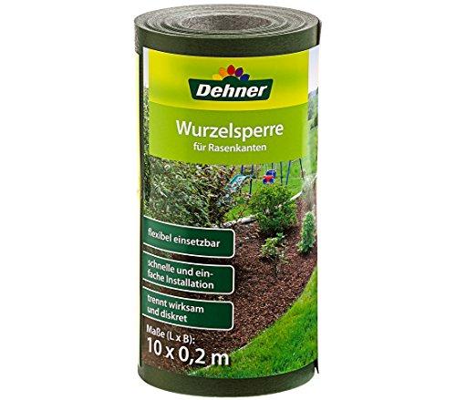 Dehner Wurzelsperre für Rasenkanten, ca. 10 x 0.2 m, Polypropylen, dunkelgrün