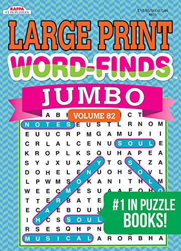 Jumbo LARGE PRINT Word-Finds Puzzle Book-Word Search Volume 82