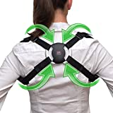 Posture Corrector - 2019 Model of Smart Back Brace | SBB - Corrects Hunching & Slouching - Smart Sensor Technology - Works with iPhone & Android. Correct Posture Today!