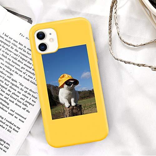 TDG Fundas para iPhone 11 Pro MAX 12 Pro Mini XS MAX XR X 7 8 6 6S Plus Se 2020 Color Caramelo Lindo Animal Shell Moda Contraportada Regalo para iPhone 5 5S Se T5