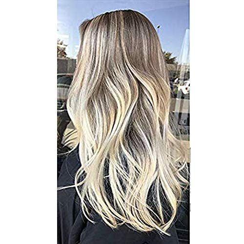 【Limited Time Coupon】Moresoo 18 Inch Tape in Remy Hair Extensions Blonde Skin Weft Human Hair Color #18 Fading to #22 and #60 Blonde Seamless Skin Weft Hair Extensions 20PC/50G