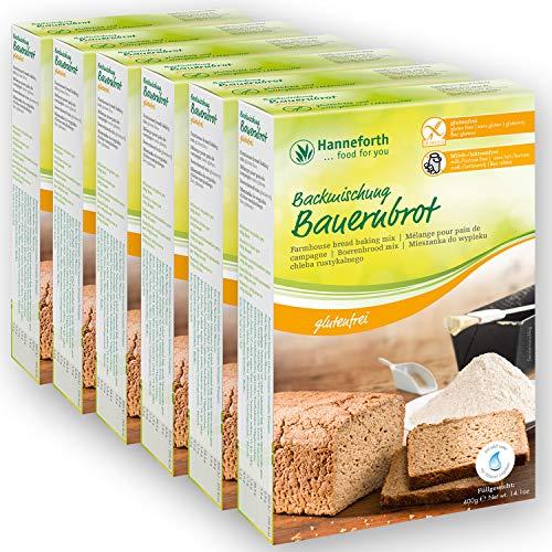 Glutenfreie Backmischung Bauernbrot | 6*400g | Hanneforth