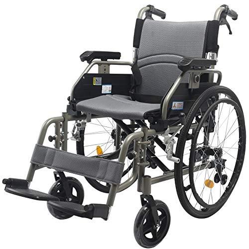 Silla de ruedas plegable Deporte y ocio Sillas de ruedas, manual portátil plegable de absorción de choque con silla de ruedas adecuado for los ancianos, los discapacitados, los pacientes de rehabilita