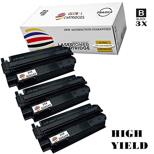 Global Cartridges Compatible Toner Cartridge Replacement for HP 24A (24X) / HP Q2624A (Q2624X) High Yield/HP Laserjet 1150, 1150N Printers(3-Pack)
