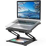 POVO Laptop Ständer Verstellbarer PC Halter Ergonomischer Notebook-Ständer Halterung, Riser für MacBook, Dell, HP, Samsung, Lenovo 10-15.6 Laptops