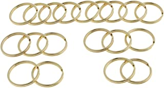 Prettyia 20 Pcs Split Key Rings Bulk for Keychain and Crafts