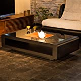 ガラステーブル センターテーブル テーブル ウォールナット 突板 オーク ブラックガラス 高級