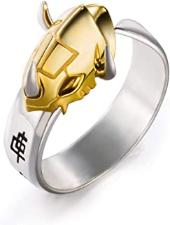 Shopular Anime Digimon Adventure Tri WarGreymon 925 Sterling Silver Ring Gift (Gold)