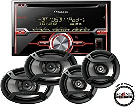 Pioneer In-Dash Double Din Bluetooth CD Player with TS-695P 6x9