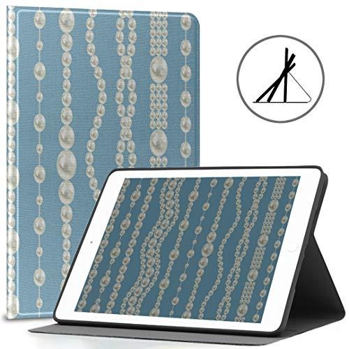 iPad 9.7 Custodia Cover Moda Bella collana Gioielli Misura 2018/2017 iPad 5a / 6a generazione Ragazza Custodia iPad 9.7 adatta anche per iPad Air 2 / iPad Air Auto Wake/sleep