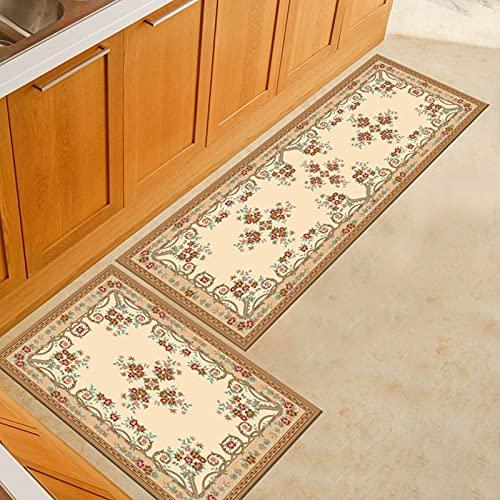 Alfombrillas de Cocina con impresión Persa, alfombras de Entrada para la decoración del Dormitorio de la Sala de Estar del hogar, alfombras Antideslizantes para el baño A2 40x120cm