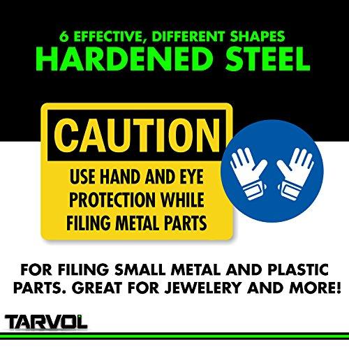 Product Image 2: Needle File Set (HIGHEST QUALITY 6 PIECE SET) Hardened Alloy Strength Steel – Mini Needle File Set Includes Flat, Flat Warding, Square, Triangular, Round, and Half-Round File.