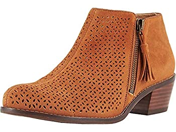 Vionic Women s Joy Daytona Ankle Boot - Ladies Bootie with Concealed Orthotic Support Caramel 5 M US