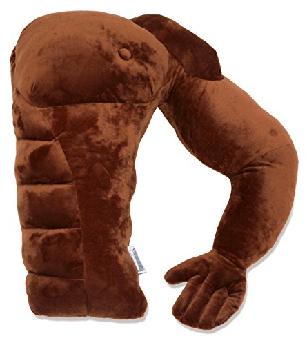 """Muscle Man Pillow – Cute and Fun Hunky Husband Cuddle Companion – Boyfriend """"Ripped"""" Body Pillow with Benifits – Unique Gag Gift Idea – Body Pillow, Brown Man"""