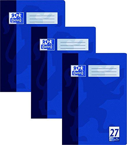 Oxford 384401627/100050313 Heft A4 Lineatur 27 DIN A4 4-fach sortiert, 90 g/qm Pack