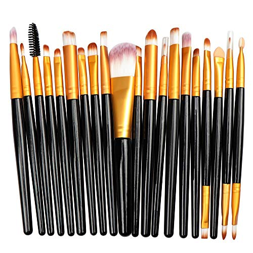 Pinceau De Maquillage Professionnel Fard À Paupières Foundation Eye Eye Brush Set, Black + Gold