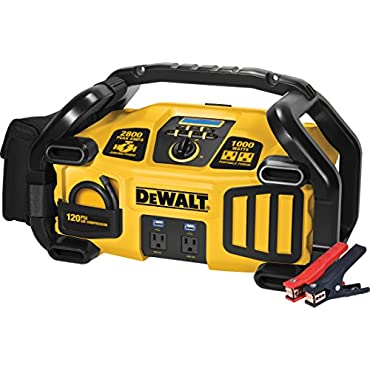 DeWalt DXAEPS2 2800 Peak Amp Jump Starter 1000-Watt Power Inverter with Digital Compressor
