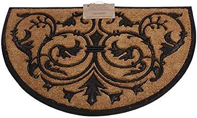 IH CASADECOR Oriental Moulded Half Moon Coir Door mat, Multi