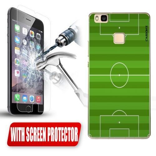 Custodia Cover Case Campo Calcio per Huawei P9 Lite + Pellicola Vetro