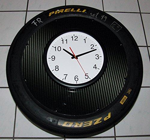 Wand-Uhr Racing (Megagroß) org. aus der DTM, Porsche Cup. Reifen/Slick, Motorsport Geschenk