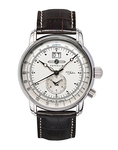 GRAF Zeppelin Dual Time Big Date 100 Years of Zeppelin Watch (White)