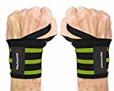 Rip Toned Wrist Wraps 18' Professional Grade with Thumb Loops - Wrist Support Braces for Men & Women - Weight Lifting, Xfit, Powerlifting, Strength Training - Bonus Ebook