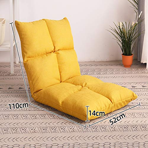 Otomanas y reposapiés Sofá perezoso, silla de sofá pequeño en cama dormitorio plegable, silla de balcón, silla de la ventana de la bahía en el dormitorio, silla perezosa, sillón reclinable multifuncio