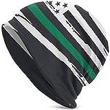 VTYOSQ US Fahne USA. Hergestellt aus den USA Agents der Paw Patrol Grüne Linie Feine Herren Damen Erwachsene Hut Strickmütze weich und locker