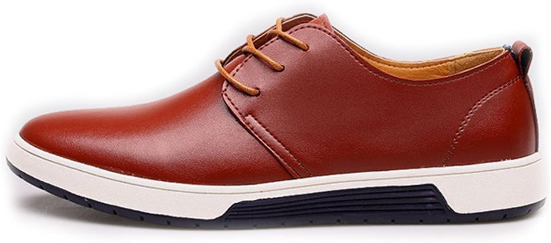 Digga hundben Man's PU läder skor skor skor Classic Lace Uppe Andable Lined Oxfords (Perforöd Upper Valal)  lagreklam