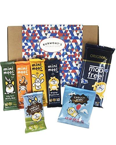 Moo Free Panier Cadeau Assortiment Ultime Chocolats - Sans Produits Laitiers, Sans Gluten, Bio Et Végan - Panier Exclusif Burmont's