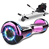 SOUTHERN-WOLF Hoverboard, Bluetooth 6.5 Pouces Self Balancing Scooter Gyropode avec Roues Flash LED E-Scooter z29 (Rose Red)