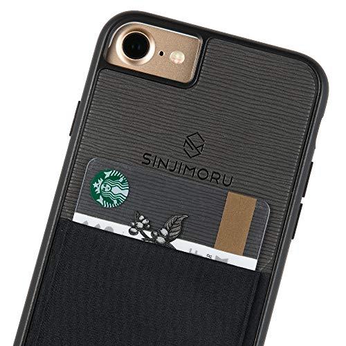 Preisvergleich Produktbild Sinjimoru iPhone SE 2020 Hülle mit Kartenfach,  iPhone 7 Hülle / iPhone 8 Hülle iPhone SE 2020 Schutzhülle mit Kartenhalter Sinji Pouch Case,  Schwarz.