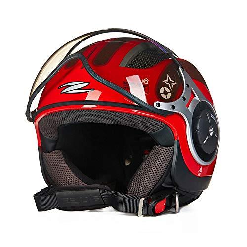 H-ei Casco de Ciclista, ABS, Ventilación diseño, Disponible for Todas Las Estaciones, Rojo y Negro, Conveniente for Ocio al Aire Libre Deportes (Color : Red, Size : X-Large)