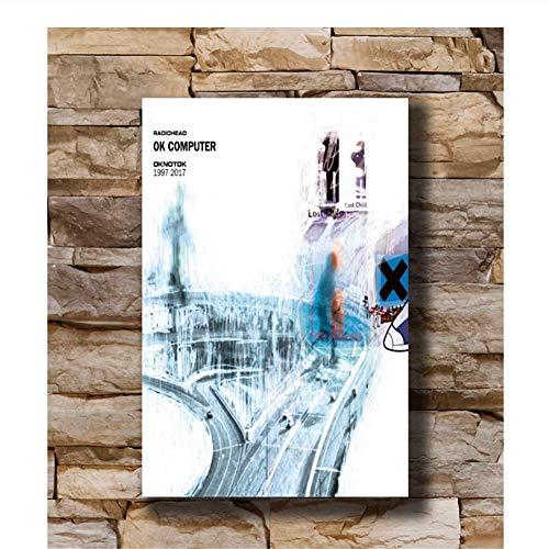 OK Computer 1997 Album Radiohead OKNOTOK Poster Art Canvas Print Decoración El mejor regalo para familiares y amigos -50x70cm Sin marco