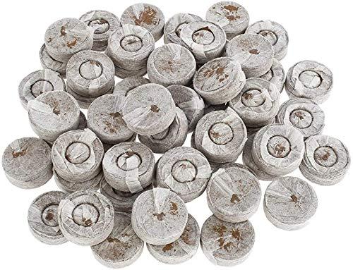 XUNGENG - Pastillas de turba comprimidas, profesional, gránulos de turba, juego de turba con nutrientes turbios, bloque de suelo de semillas, para cultivo multicultivo germinación (20)