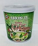 Pasta de curry verde Aroy D de 14 oz (paquete de 1)