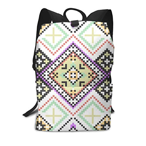 Knitting-Pattern Laptop Backpack Business Rucksack Casual College High School Bag