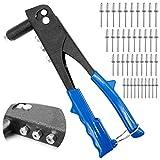 Pistola de remaches manual, con cuatro boquillas guía, herramienta ideal para reparaciones en el hogar