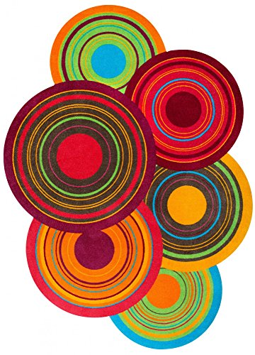 Wash+Dry - Alfombra Cosmic Colours 140x200, Colorido