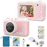 joylink Cámara para Niños, 2,4 Inch Pantalla Cámara de Fotos para Niños Cámara Selfie de 16MP 1080P HD Video Cámara Digital para Niños con Tarjeta TF de 32GB (Rosado)