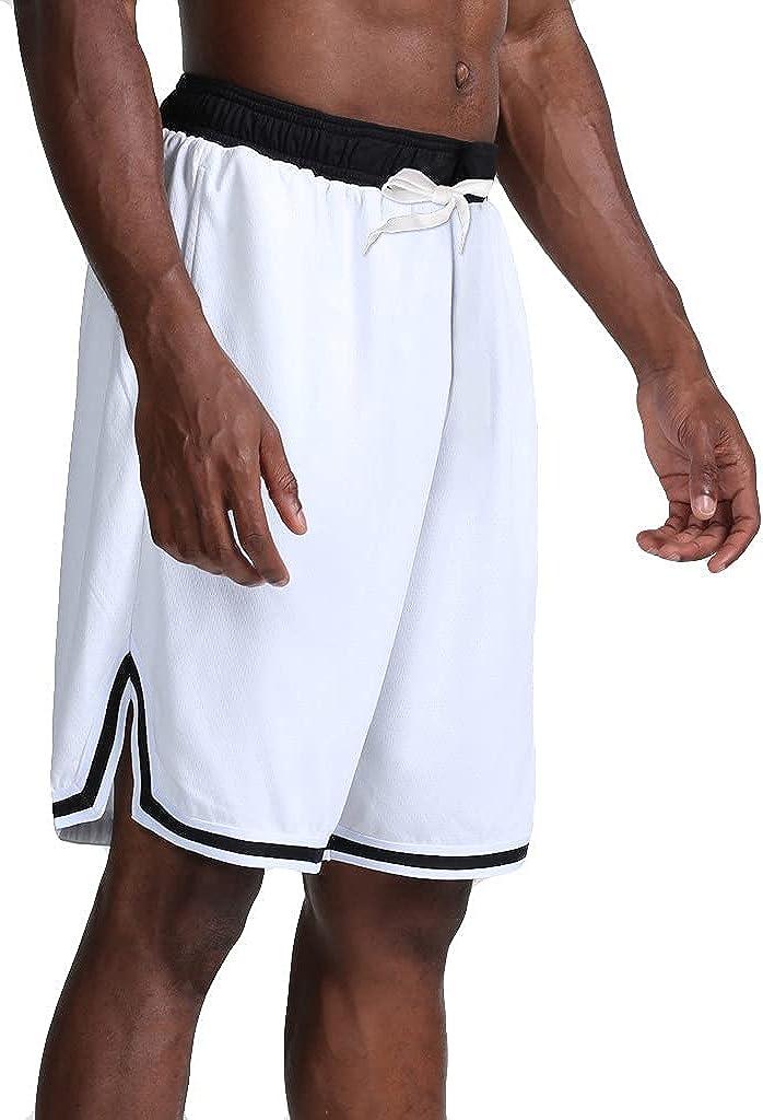 YUNDAN Basketball Shorts Men Quick Dry Resistant Athletic Performance Sweatpants Elastic Waist Drawstring Beach Crop Trousers