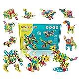 Konstruktionsspielzeug STEM Spielzeug Bauen 189 Stück Kreatives Baukasten Lernspielzeug Pädagogische Ingenieurblöcke Bausteine ab 5 6 7 8 9 10 Jahren Jungen & Mädchen Kinder mehr als 18 Modell-Designs