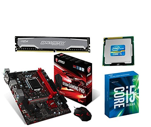Aufrüstkit MSI B250M Gaming Pro+i5-7400+8GB PC2400 Desktop PC (Intel Core i5, 8GB RAM, Intel HD Graik 630) grau