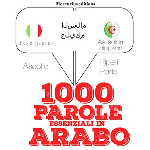 1000 parole essenziali in Arabo audiobook cover art
