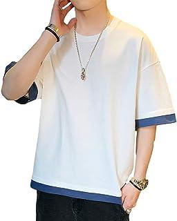 夏 Tシャツ メンズ Tシャツ 半袖 五分袖 カットソー tシャツ 吸汗速乾 汗染み防止 快適な ファッション カジュアル カットソー 夏季対応