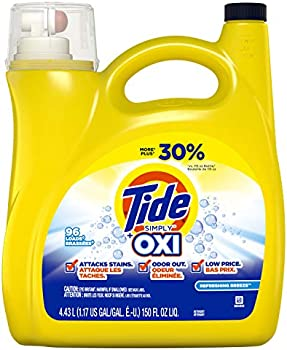 96 Loads Tide Simply +Oxi Refreshing Breeze Liquid Laundry Detergent